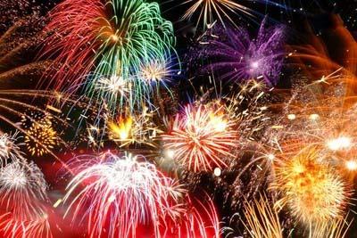 Фейерверк в новый год